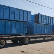 Up to six 30yd containers fit on a load
